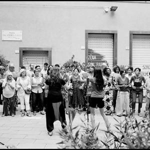 Prove in piazza Don Gallo (foto di Ivo Saglietti)